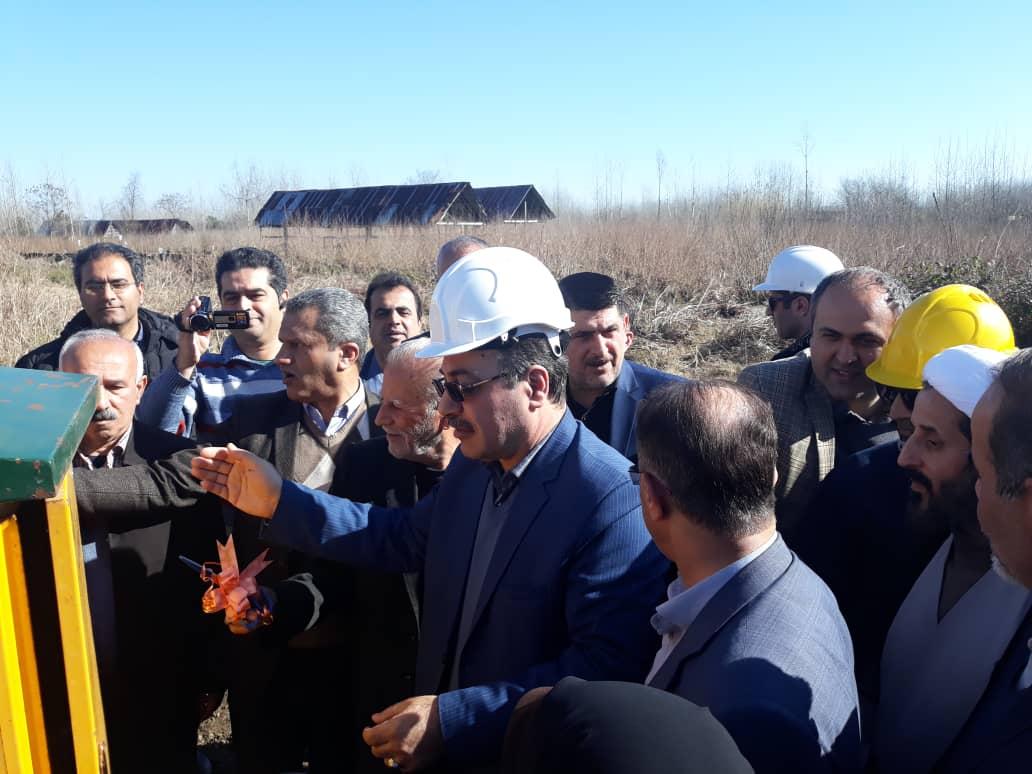 افتتاح پروژه های امور توزیع برق شهرستان لنگرود در سومین روز دهه مبارک فجر