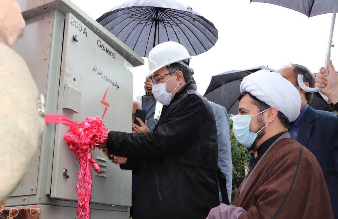 افتتاح پروژه های برق شهرستان لنگرود در هفته دولت