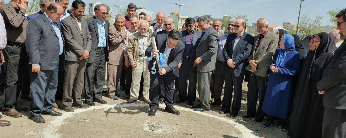 کلنگ زنی احداث ساختمان شرکت تعاونی فرهنگیان شهرستان لنگرود + تصاویر