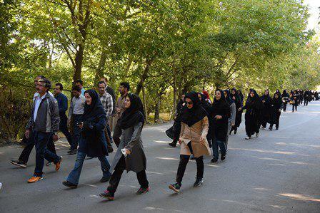 همایش پیاده روی خانوادگی فرهنگیان در واجارگاه بخش کلاچای رودسر